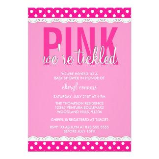 Hot Pink Baby Shower Invitation