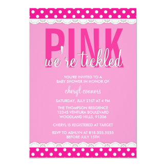Hot Pink Baby Shower Invitation
