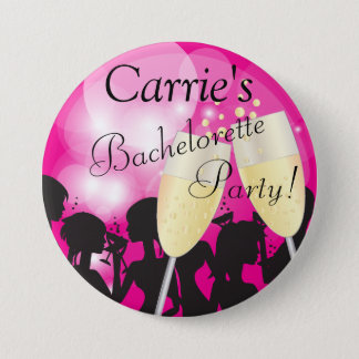 Hot Pink - Bachelorette Diva Girls Night Out Pinback Button