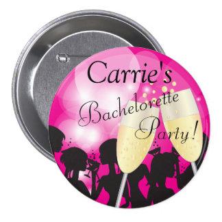 Hot Pink - Bachelorette Diva Girls Night Out Pinback Button
