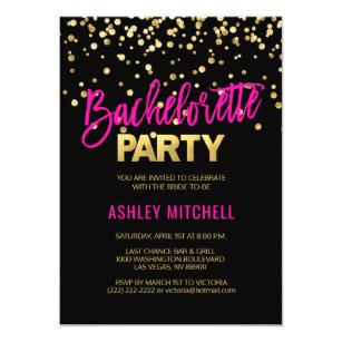 Bachelorette party invitations zazzle hot pink bachelorette party invitations templates maxwellsz