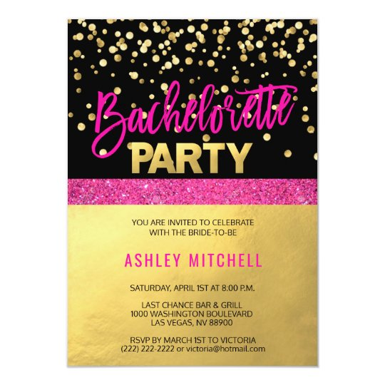 HOT Pink Bachelorette Party Invitations Templates