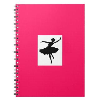 Hot Pink Ballerina Notebook