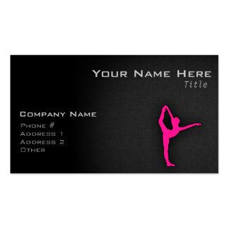 Hot Pink Ballet Dancer Business Card Template