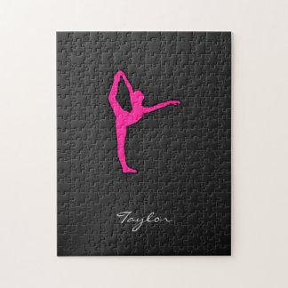 Hot Pink Ballet Dancer Puzzle