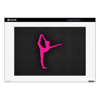Hot Pink Ballet Dancer Skins For Laptops