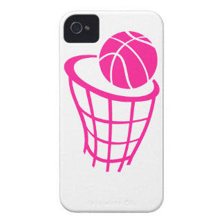 Hot Pink Basketball iPhone 4 Covers
