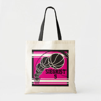 Hot Pink Basketball | Personalize Tote Bag