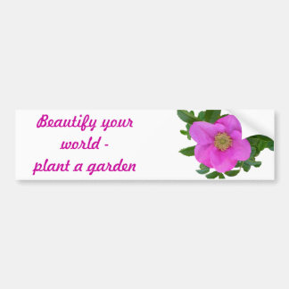 Hot Pink Beach Rose Coordinating Items Bumper Sticker