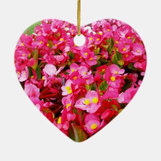 Hot Pink Begonia Sensation, Ceramic Ornament