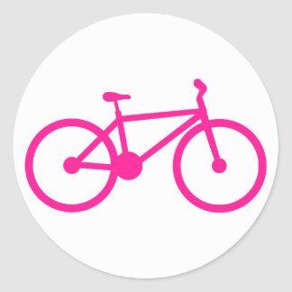 Hot Pink Bicycle; bike Classic Round Sticker