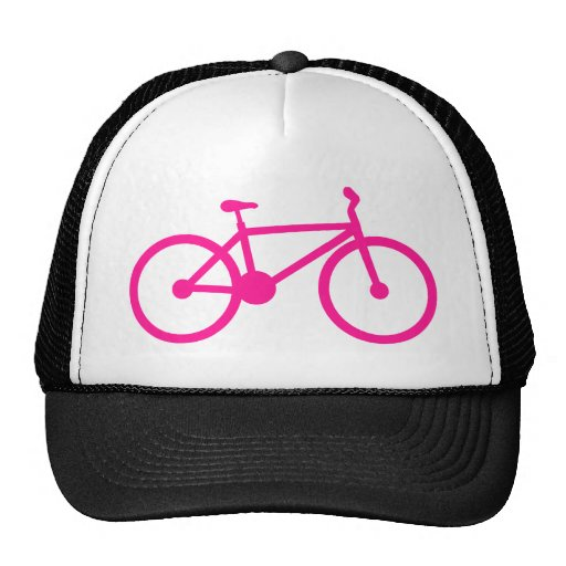 Hot Pink Bicycle; bike Hat