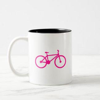 Hot Pink Bicycle; bike Coffee Mugs