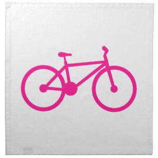 Hot Pink Bicycle; bike Printed Napkins
