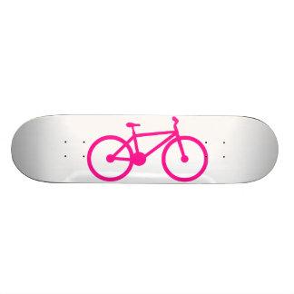 Hot Pink Bicycle; bike Skateboard Deck