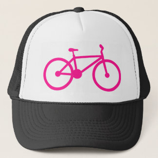 Hot Pink Bicycle; bike Trucker Hat