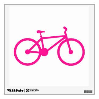 Hot Pink Bicycle; bike Wall Skin