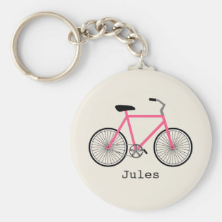 Hot Pink Bicycle Keychain