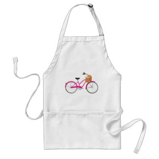 Hot PInk Bicycle with Oranges Adult Apron