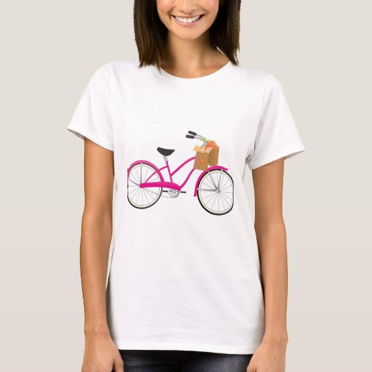 Hot PInk Bicycle with Oranges T-Shirt