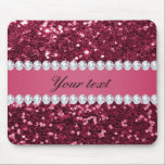 "Hot Pink Big Faux Glitter and Diamonds Mouse Pad<br><div class=""desc"">Glamorous personalized large hot pink faux glitter / sequins and diamonds. PLEASE NOTE: These are flat printed graphics - no real glitter, jewels or raised parts. Click on the Customize it / Personalize it button to personalize with your text. If you need any assistance customizing your product please contact me...</div>"