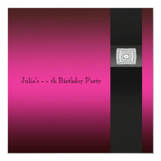 Hot Pink Birthday All Occasion Party Invites