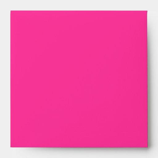Hot Pink Black and White Damask Envelope Envelopes
