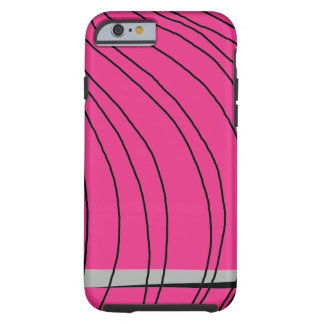 Hot Pink Black Artsy Girly iPhone Cases Tough iPhone 6 Case