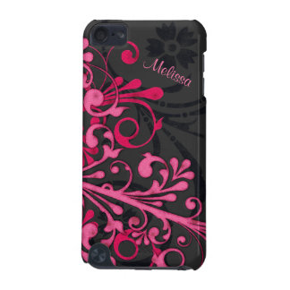Hot Pink Black Bold Elegant Floral iPod 5G Case iPod Touch (5th Generation) Cases