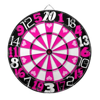 Hot Pink & Black Dartboard