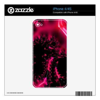 Hot Pink Black Fractal Art iPhone 4 Skin