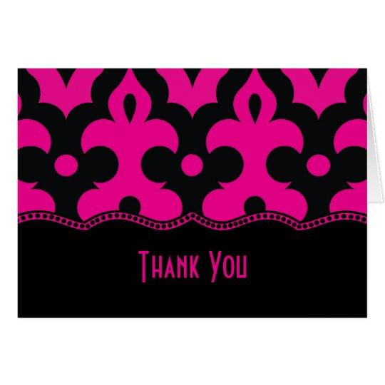 Hot Pink & Black Frieze Card