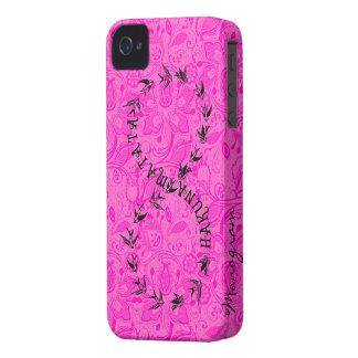 Hot Pink & Black Hakuna Matata Infinity Symbol iPhone 4 Case-Mate Case