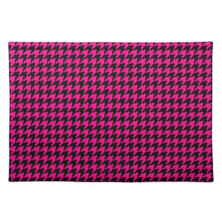 Hot Pink/Black Houndstooth Placemat