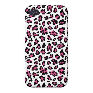 Hot Pink Black Leopard Animal Print Pattern iPhone 4/4S Case