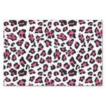 Hot Pink Black Leopard Animal Print Pattern Tissue Paper