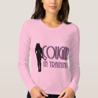 Hot Pink Black silhouette Cougar In Training Shirt