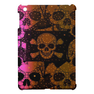 Hot Pink Black Skull Bling iPad Mini Cover