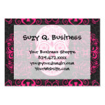 Hot Pink Black Sugar Skull Roses Gothic Grunge Large Business Cards (Pack Of 100)