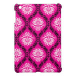 hot pink black white ornate damask cover for the iPad mini