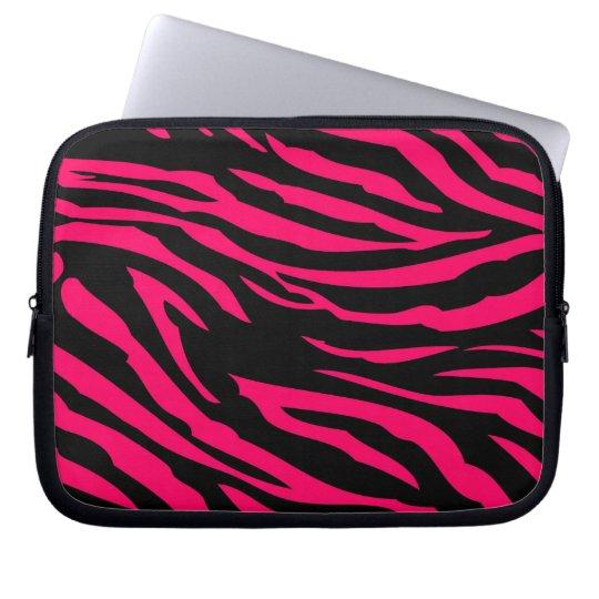 Hot Pink Black Zebra Print Animal Protective Case