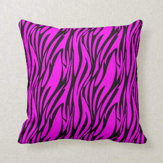 Pink Zebra Print Decorative Pillows : Hot Pink Fur Pillows - Decorative & Throw Pillows Zazzle