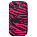 Hot Pink Black Zebra Print Samsung Galaxy Case Galaxy SIII Case