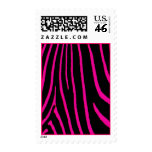 Hot Pink & Black Zebra Print Stamp