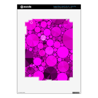 Hot Pink Bling Pattern Decals For iPad 3