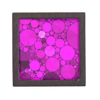 Hot Pink Bling Pattern Keepsake Box