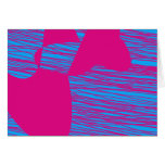 Hot Pink Blob Fuchsia and Teal Abstract Art Stationery Note Card