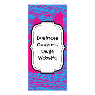 Hot Pink Blob Teal Fuchsia Abstract Art Full Color Rack Card