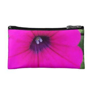 Hot Pink Bloom Themed Cosmetic Bag