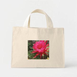 Hot Pink Blooming Cactus Flower Mini Tote Bag
